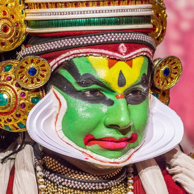 Spectacle Kathakali - Voyage Kerala, Inde
