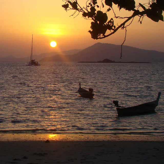 Coucher de Soleil - Croisière Thaïlande