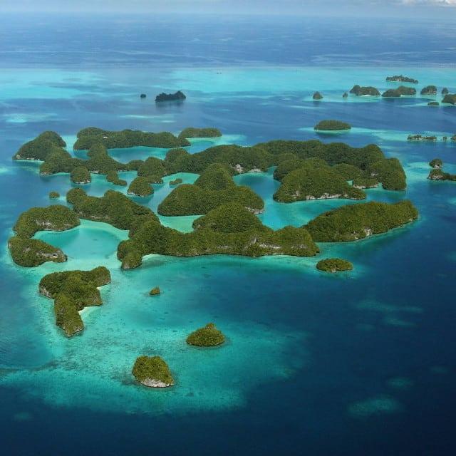 Vue aérienne - Séjour Îles Carolines, Voyage Palaos