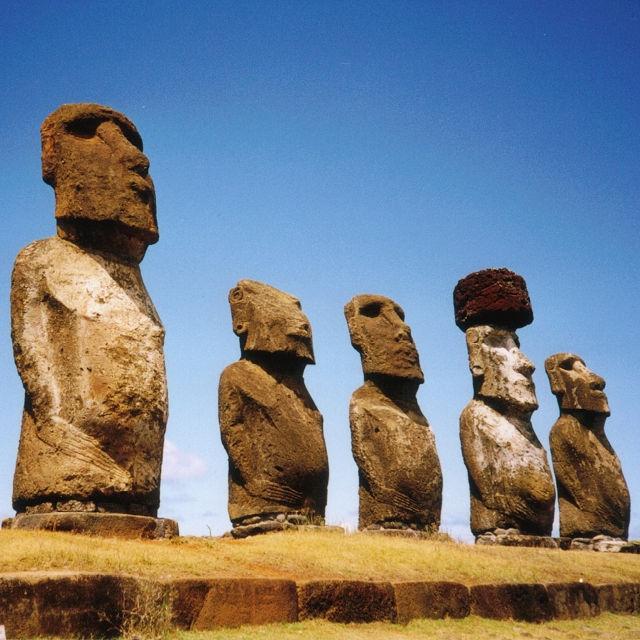 Moai Ahu Tongariki, île de Pâques - Voyage Chili en groupe